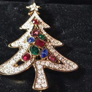 Jewelry - Swarovski Christmas Tree Pin (#7)